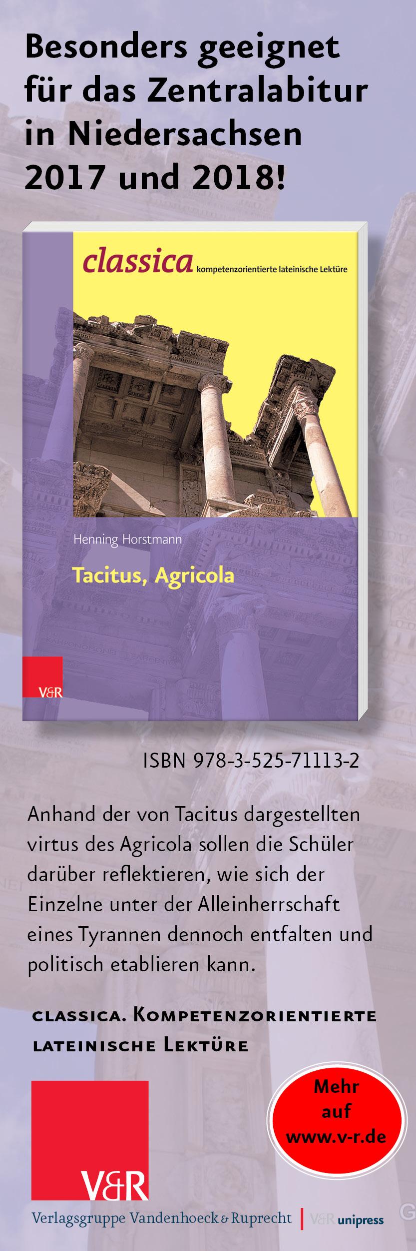 V&R: Classica - Tacitus, Agricola